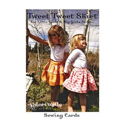 Valori Wells Tweet Tweet Skirt Sewing Card Pattern
