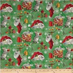 Santa Paws Kittens Green