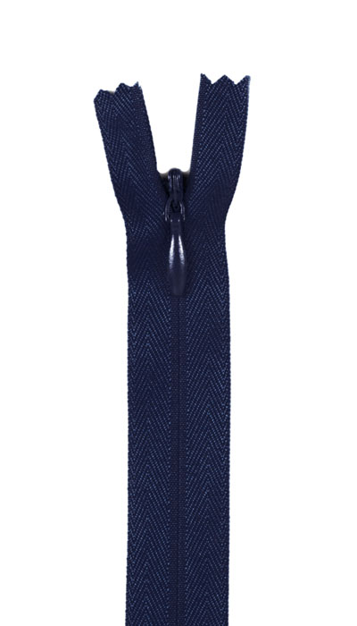 Image of 12/14'' Poly Invisible Zipper Navy