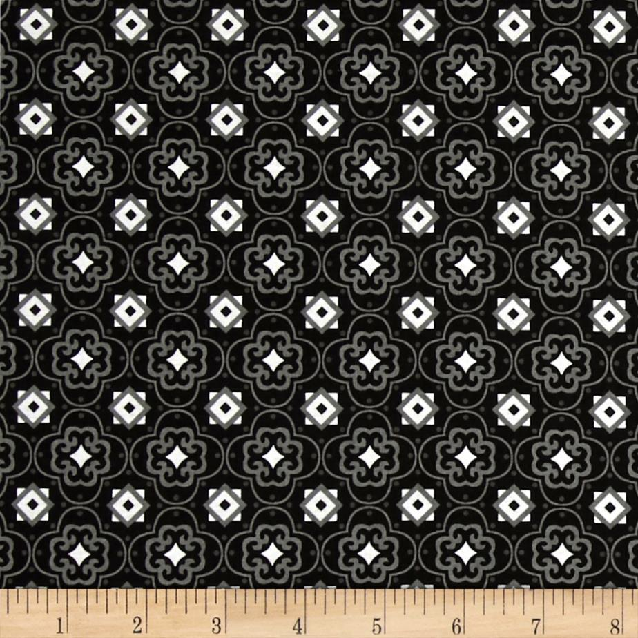 Fade to Black Squares and Stars Black