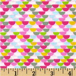 Child's Play Half Moons Pink Fabric