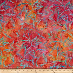 Timeless Treasures Tonga Batik Pashmina Tulips Tropical
