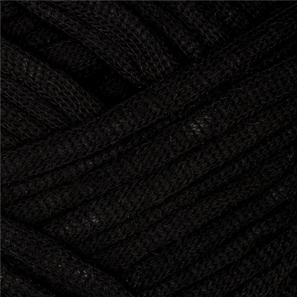 Red Heart Strata  Yarn Black