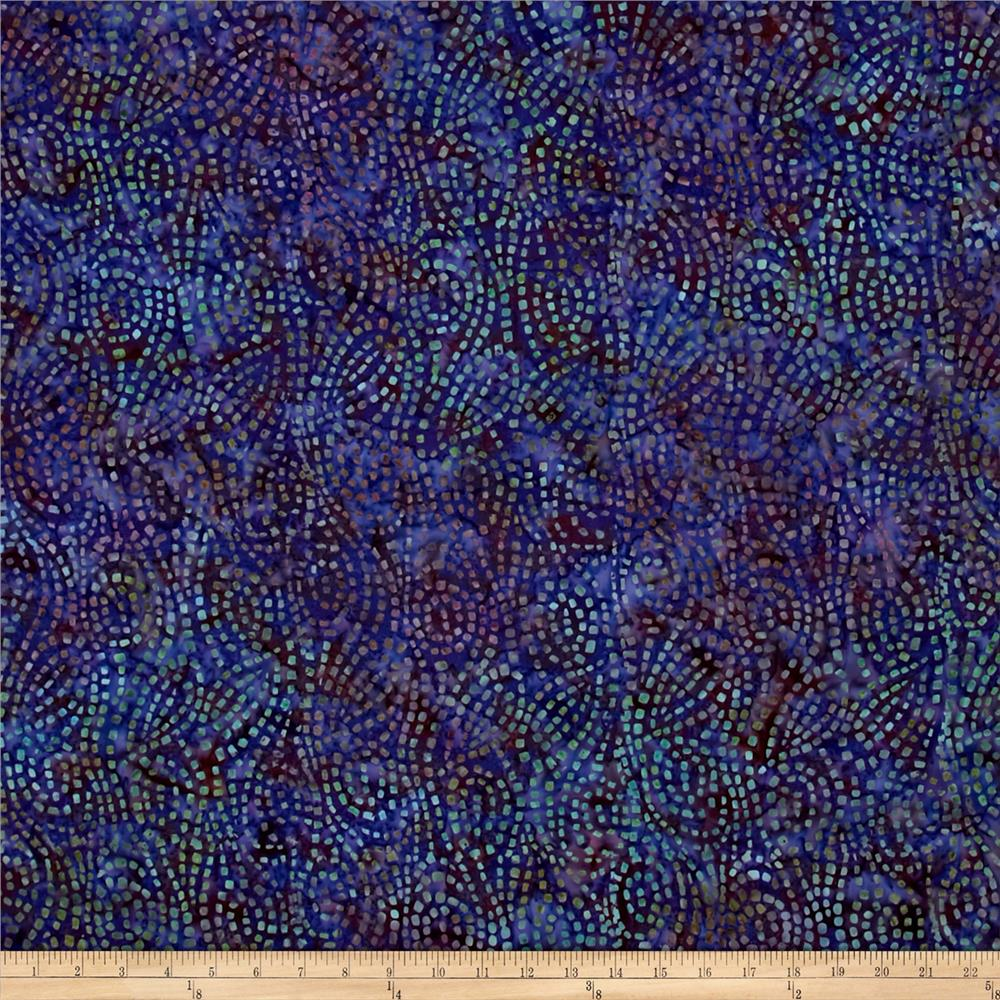 Wilmington Batik Swirl Chase Purple
