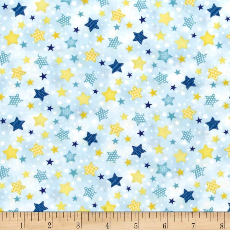 To The Moon & Back Stars Allover Aqua