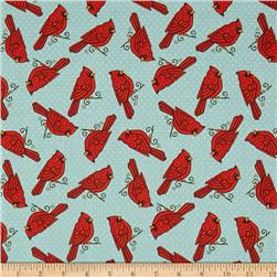 Cardinal Wreath Mockingbirds Blue