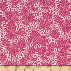 Baby Talk Splash Floral Pink/White Fabric