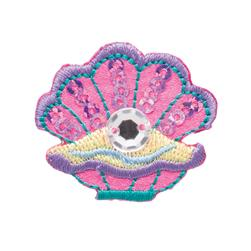 Simplicity Iron On Applique Jeweled Clamshell W/Sequins