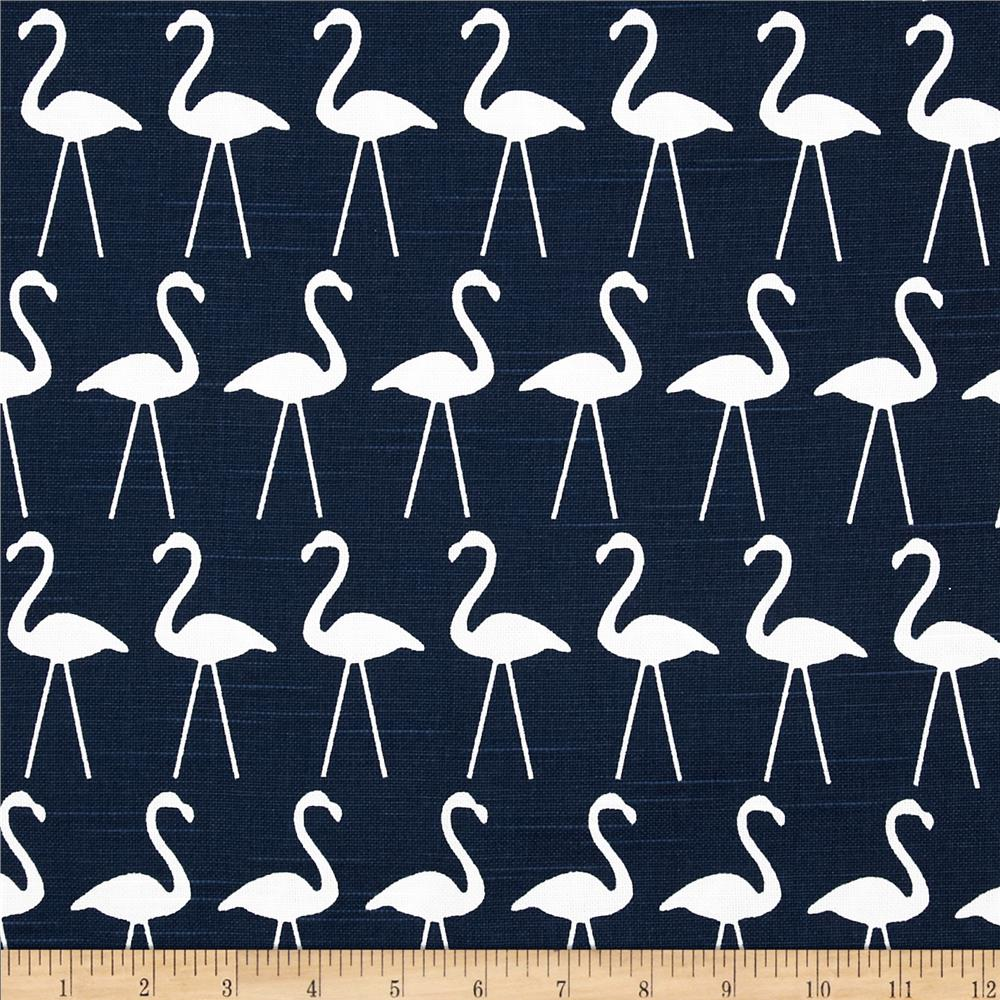 Premier Prints Flamingo Slub Primary Navy