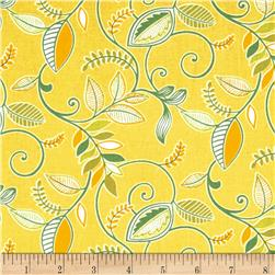 Gramercy Medium Floral Yellow Fabric