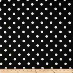 Premier Prints Polka Dots Twill Black/White Fabric