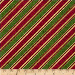 Holiday Elegance Metallic Diagonal Stripe Multi