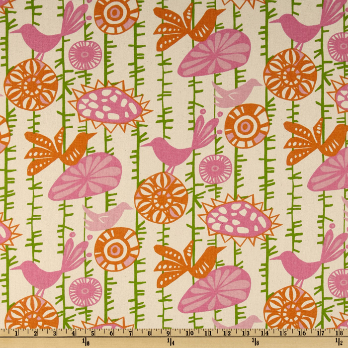 Premier Prints Menagerie Gumdrop/Natural Fabric
