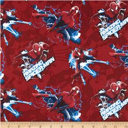 Marvel Comics Spiderman Electric Toss Red Fabric