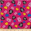 1D Guitar Picks-Dots Hot Pink