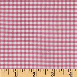 "Pink/White 1/8"" Gingham Cotton"