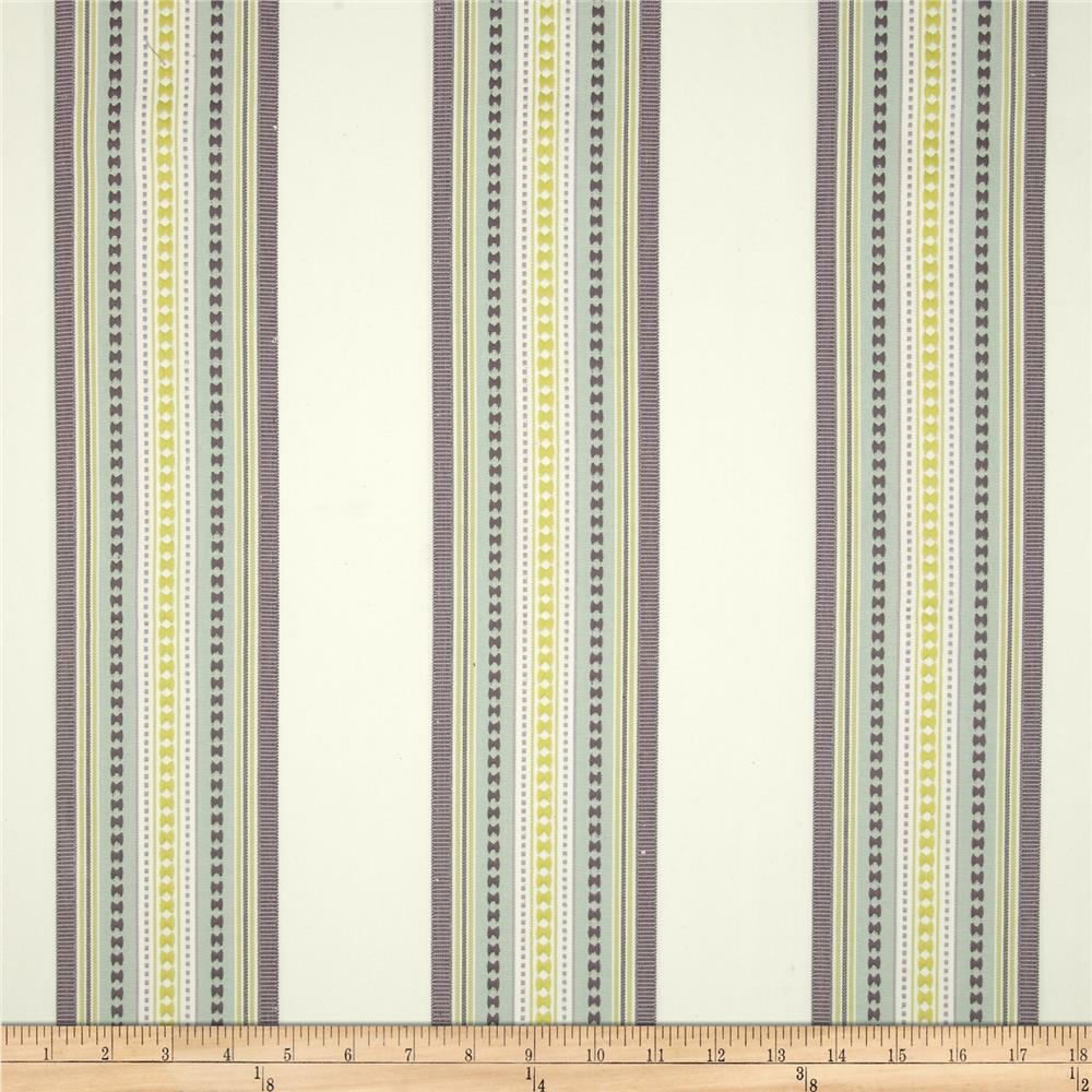 Jennifer Adams Home Bukara Stripe Jacquard Seafoam