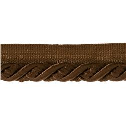 "Helena 3/8"" Decorative Lip Cord Trim Chocolate"