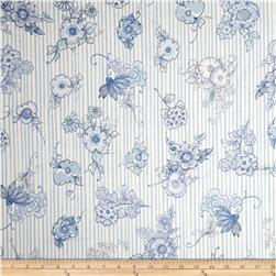 Flora Bleu Bloomers Stripes Blue