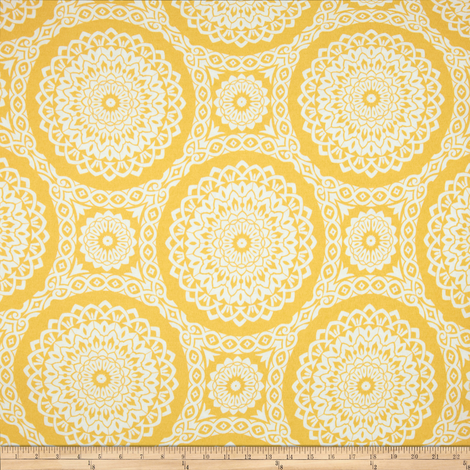Richloom Indoor/Outdoor Suzani Yellow