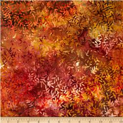 108'' Wide Tonga Batik Quilt Backing Viney Leaf Autumn
