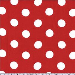 Charmeuse Satin Jumbo Dot Red/White