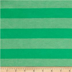 Stretch Hatchi Sweater Knit Stripes Green/Lime