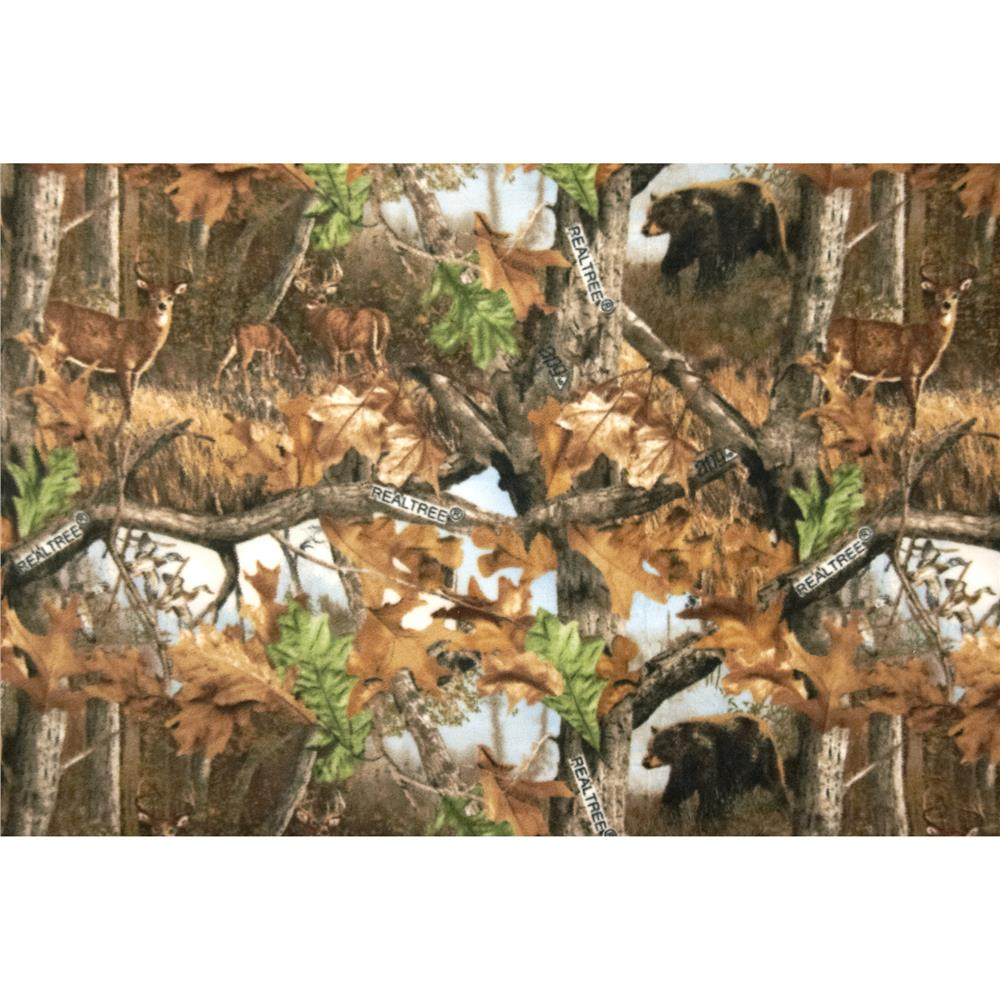 Realtree Fleece Wildlife Scenic Brown