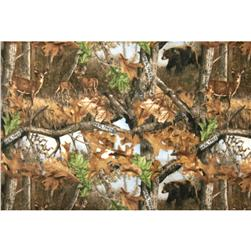 Realtree Fleece Wildlife Scenic Brown Fabric