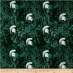 Collegiate Cotton Broadcloth Michigan State University Tie Dye