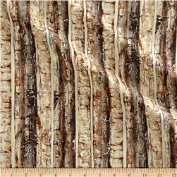 Nocturne Metallic Birch Trees Sepia/Silver