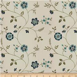 Trend 04255 Faux Silk Navy Ivory