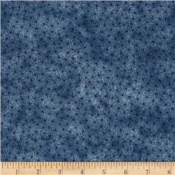 Sew Nice to be Home Daisy Floral Dark Blue