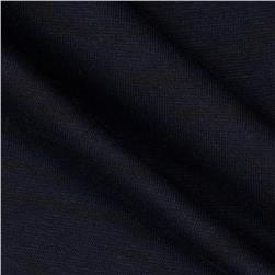 Cotton Double Knit Subtle Zebra Navy/Black
