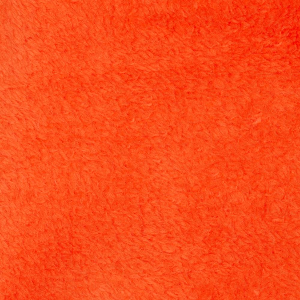 Plush coral fleece solid tangerine discount designer for Purchase fabric by the yard