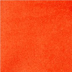 Plush Coral Fleece Solid Tangerine