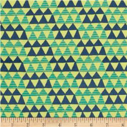Happy Camper Flannel Tribal Blue Fabric
