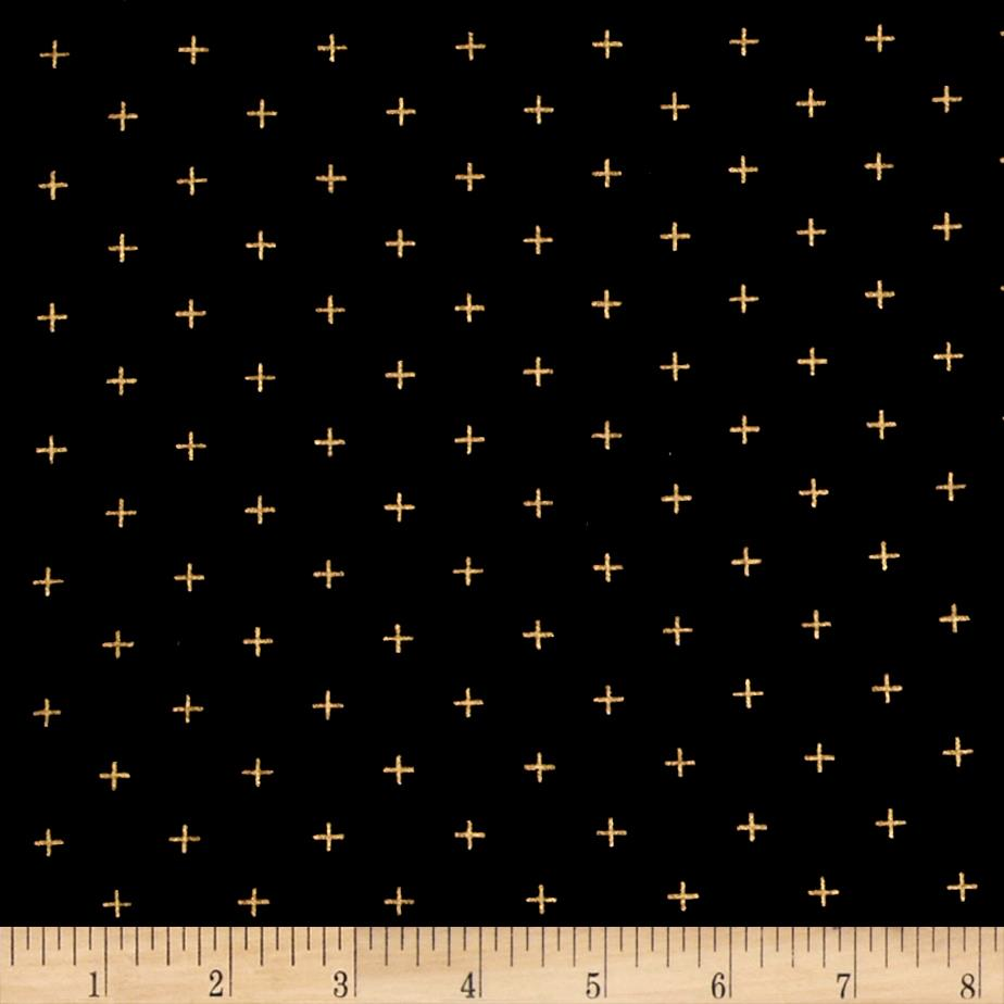 Moda Modern Backgrounds Luster Metallic Positive Black