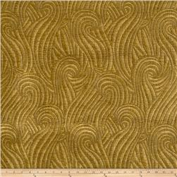 Robert Kuo Dragon Swirl Chenille Gold