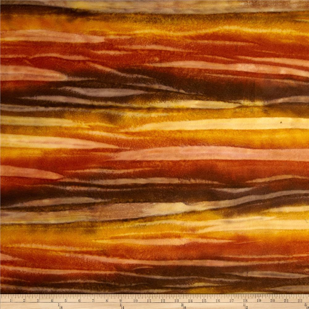 Bali Rainbow Flannel Striations Sienna/Gold