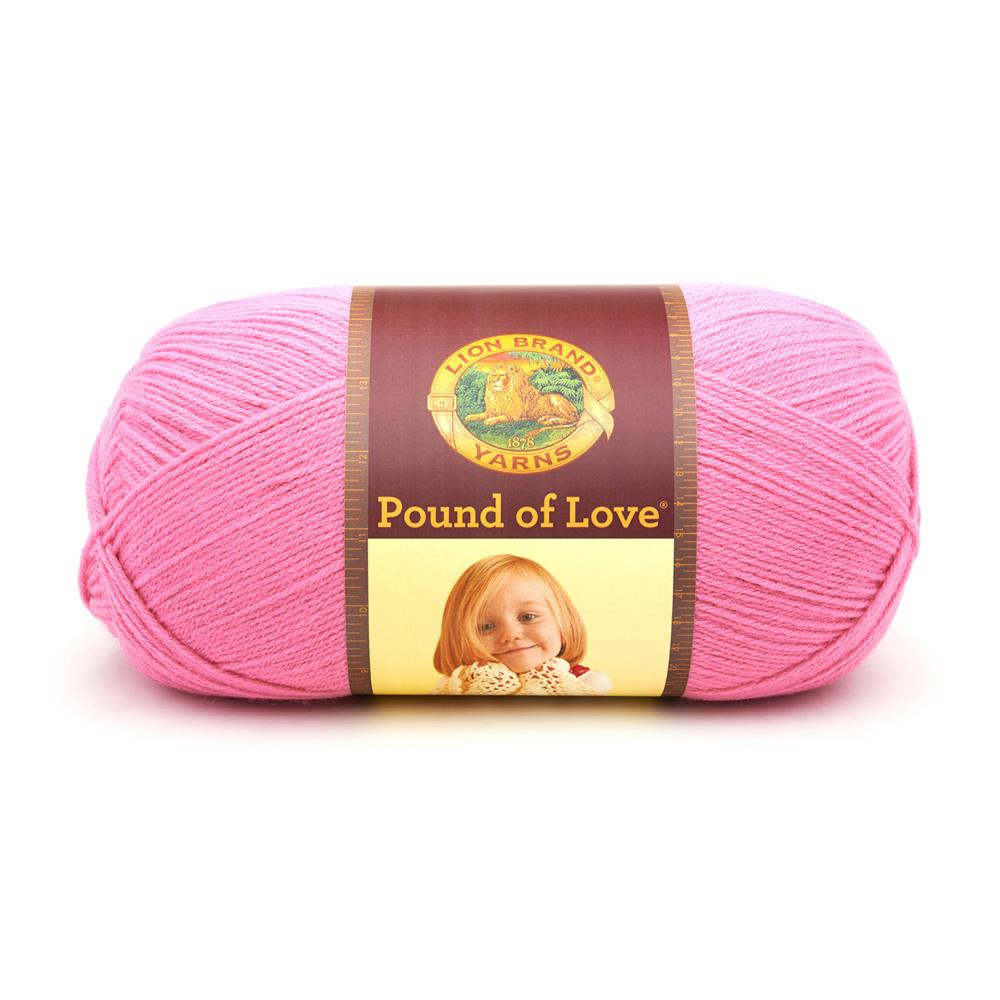 Lion Brand Yarn Pound of Love Bubblegum