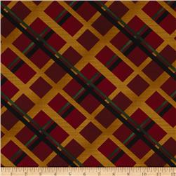 Christmas Spectacular Plaid Spectacular Red Fabric