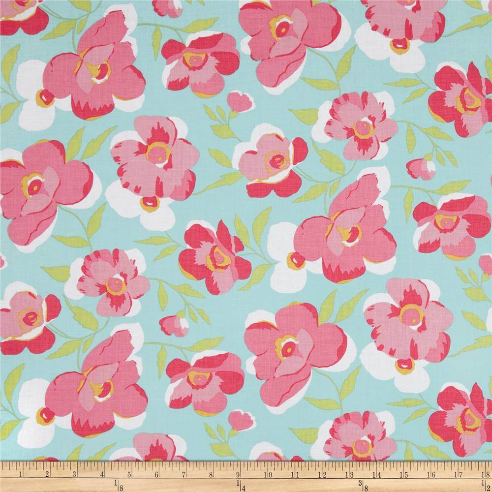 Fashion Plate Large Floral Blue