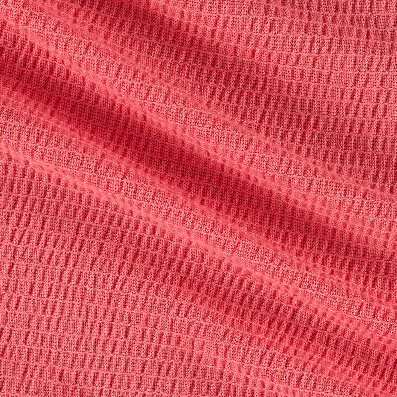 Image of Crinkled Gauze New Coral Fabric