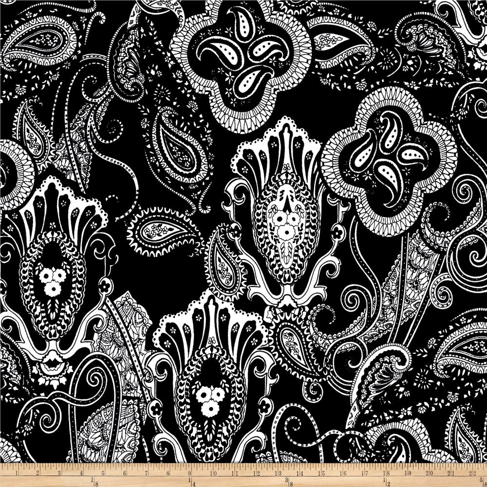 Liverpool Double Knit Paisley Black