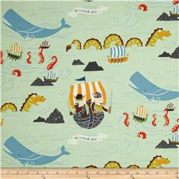 Monkey's Bizness The Vikings Sea Jade Fabric