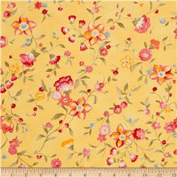 Moda Nanette Windswept Flowers Butterscotch
