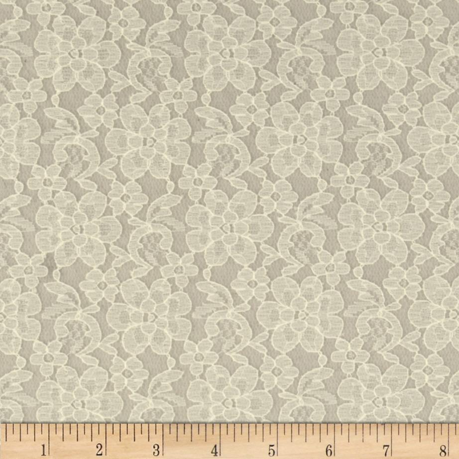 Raschel lace ivory discount designer fabric for Cheap fabric