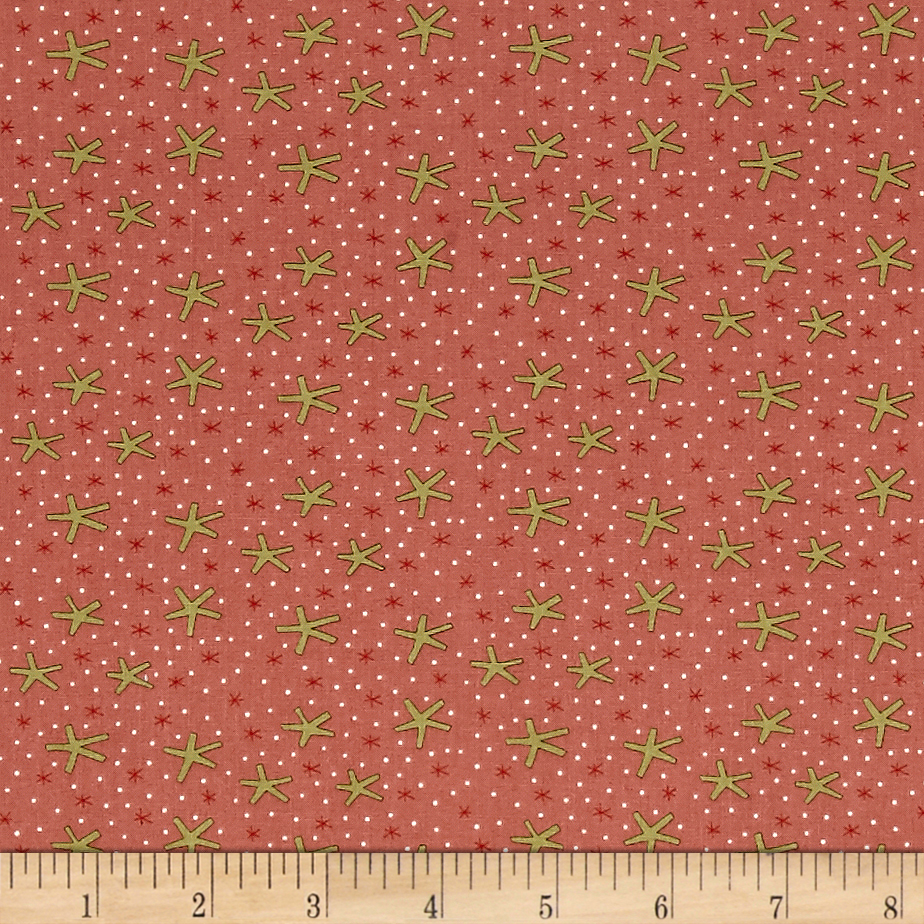 Celebrating Christmas Large Snowflakes Pink Fabric 0489762