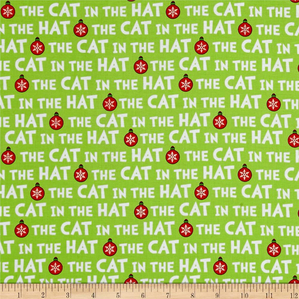 Kaufman The Cat In The Hat Christmas Words Green